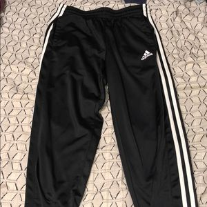 Black/White Adidas Sweatpants